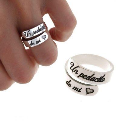 anillo de plata un pedacito de mi