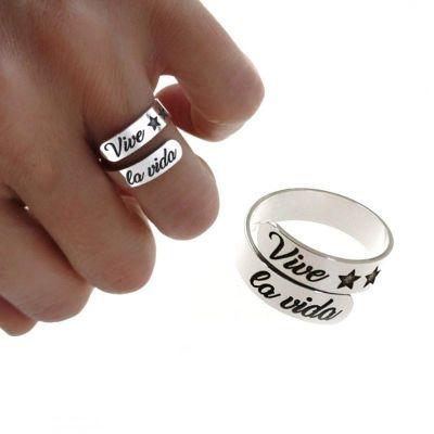 anillo de plata vive la vida