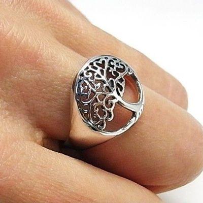 anillo árbol de la vida plata
