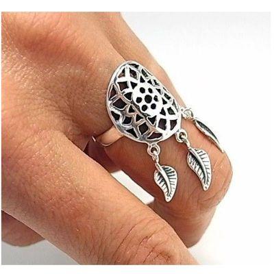 anillo atrapasueños plata