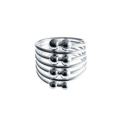 anillo de muelle plata