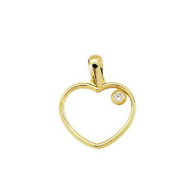 colgante mini corazón oro amarillo