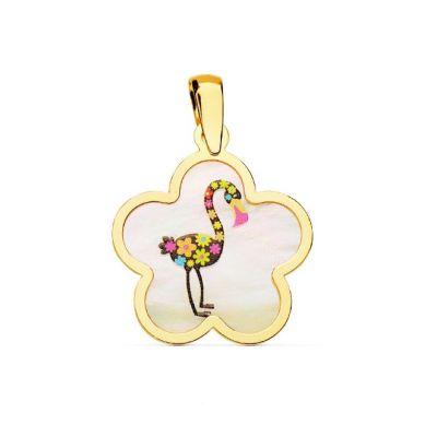 colgante flamenco oro amarillo
