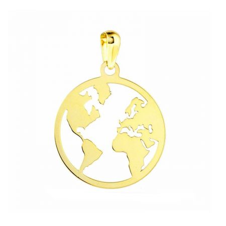 colgante mundo calado oro amarillo