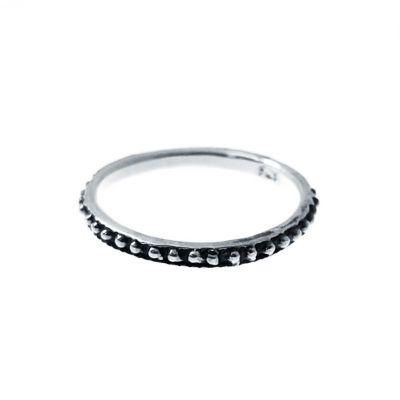 anillo boho de bolitas