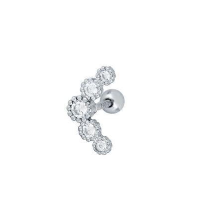 helix piercing con piedras