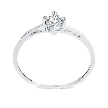 anillo de pedida Paris Blanco 18 Ktes