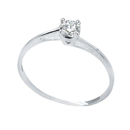 anillo de pedida oro blanco 18k