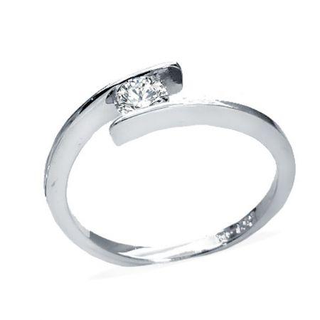 anillo de compromiso niza oro Blanco 18 Ktes