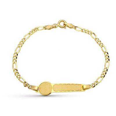 esclava de bebe oro con reloj