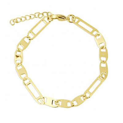 pulsera dorada de mujer figaro