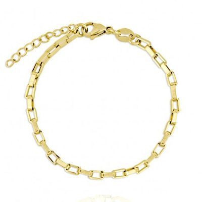 pulsera dorada mujer eslabones