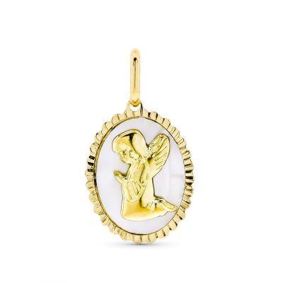 medalla bebe oro 18k angelito