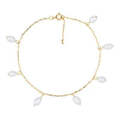pulsera de oro perlitas