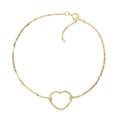 pulsera de oro corazon