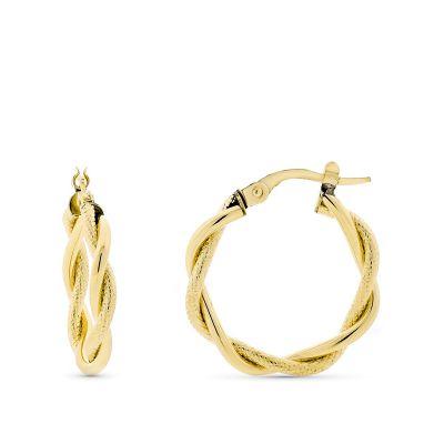 aros trenzados de oro
