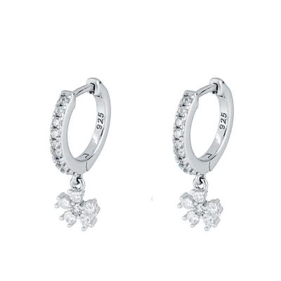 aros de plata circonitas