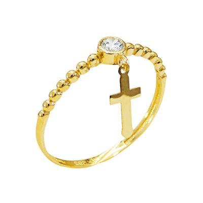 anillo de cruz
