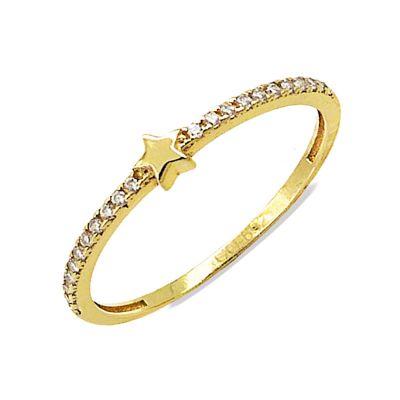 Anillo de estrella Oro Amarillo 18K