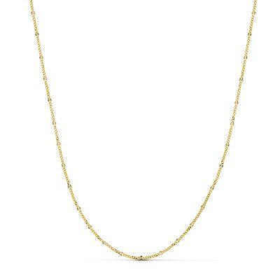 cadena barbada de oro