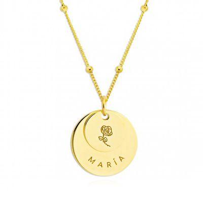 collar oro con nombre