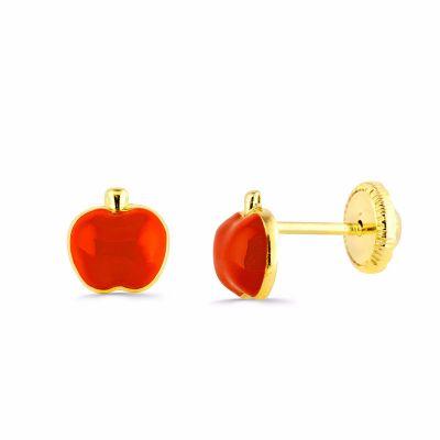pendientes bebe manzanas