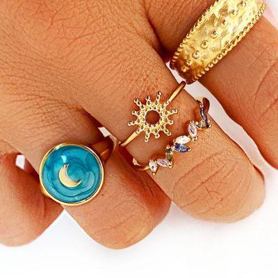 sello de mujer luna