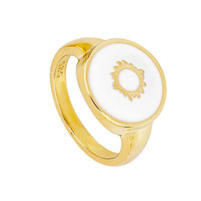 sello dorado de mujer