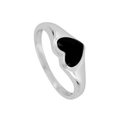 anillo corazon de plata