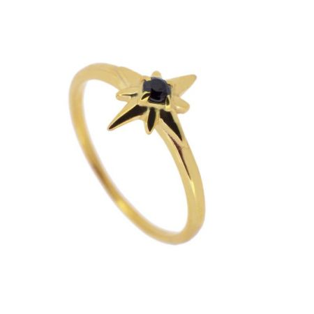 Anillo Ada Black Gold