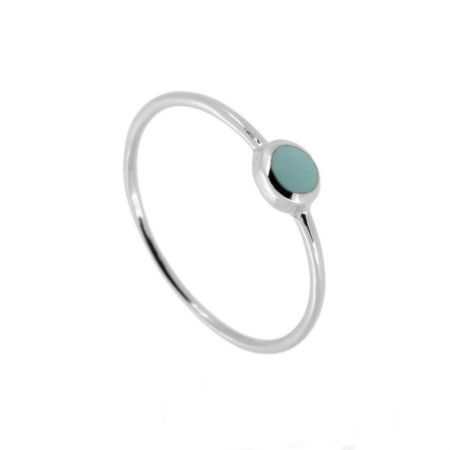 Anillo Zoe Blue Light Plata
