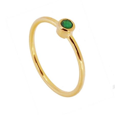 Anillo Noa Calcedonia Gold