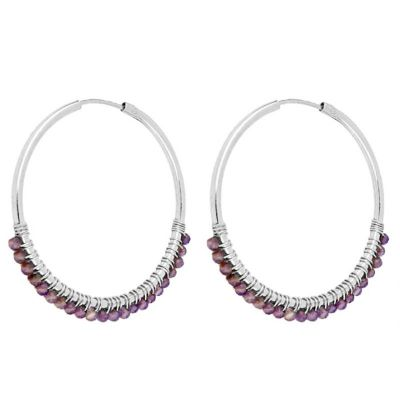 Aros Abby Amatistas 35mm Plata