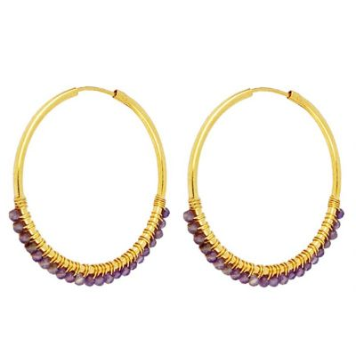 Aros Abby Amatistas 35mm Gold