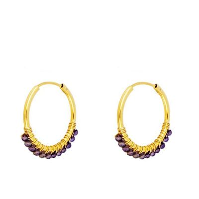 Aros Abby Amatistas 20mm Gold