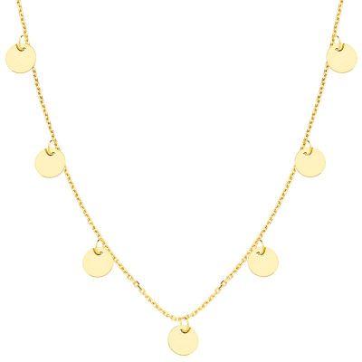 Collar Chapitas Oro Amarillo 18 Ktes