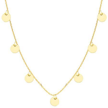 Collar de Mujer Chapas Oro Amarillo 18 Ktes