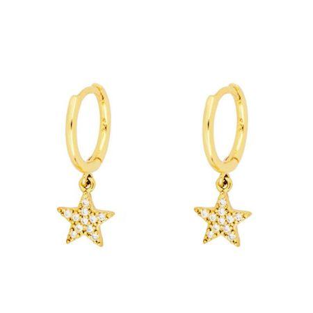 Aros Estrellas plata de ley