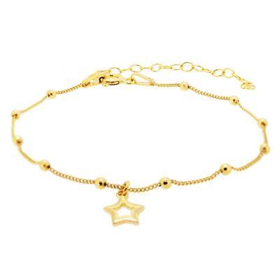 Pulsera Bolas Estrella Gold