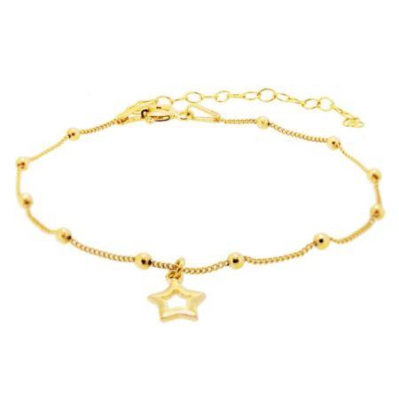 Pulsera Estrellas Plata Oro