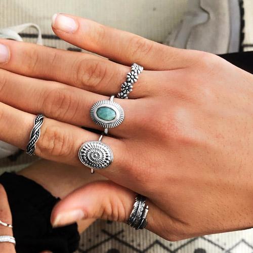 tipos de anillos de plata